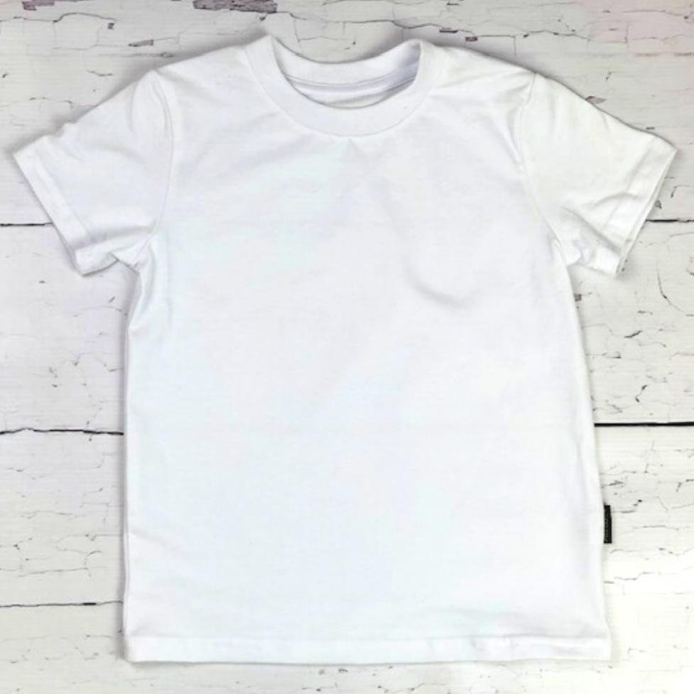 T-shirt dziecięcy cały biały odCZAPY