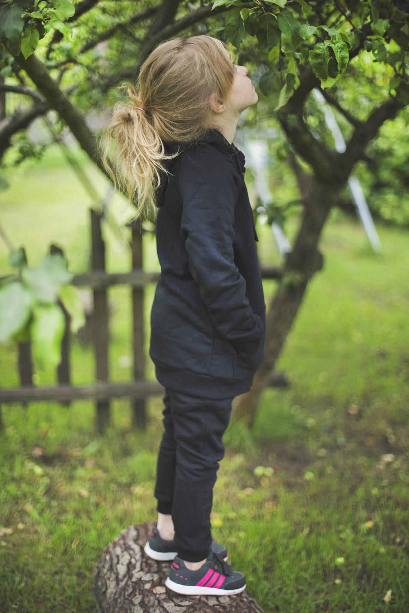 Spodnie dresowe dziecięce czarne - dresy odCZAPY Kids